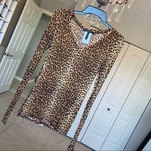 BCBGMAXAZRIA Leopard Shirt